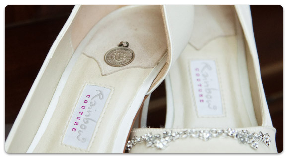 Rainbow Couture wedding shoes